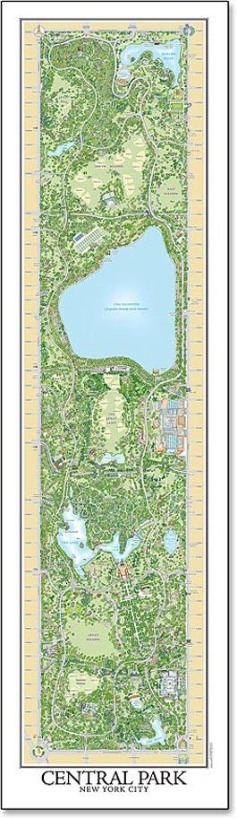 A New Map Of New York S Central Park International Oak Society